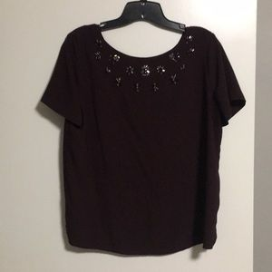 Ann Taylor Factory blouse with black and silver